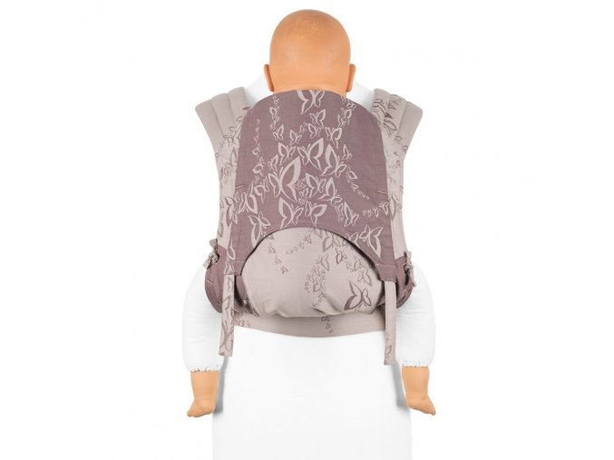 Toddler size: Fly Tai - Mei Tai - Feel Free - Lilac Grey (limitovaná edice)