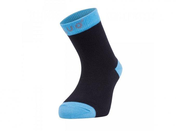 Bambusové ponožky - černé s tyrkysovou, Unuo