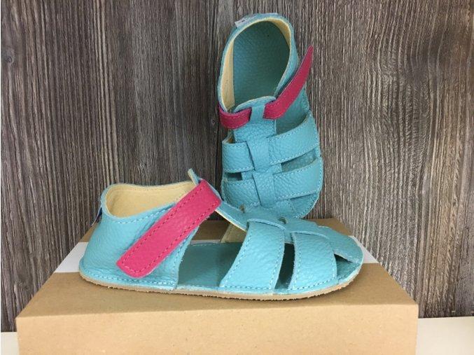 Baby Bare Shoes Flower - páskové sandále, Baby Bare Shoes