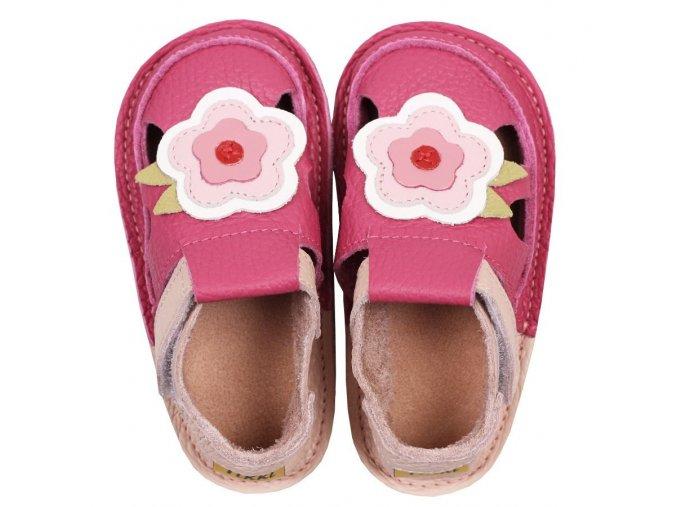Sandálky May flowers - podrážka 2 mm, Tikki shoes