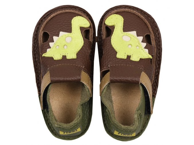 Sandálky Little dino - podrážka 2 mm, Tikki shoes