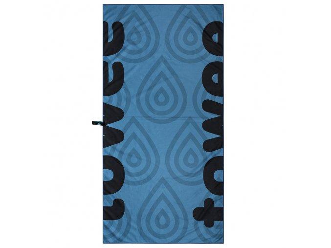 Rychleschnoucí osuška DROPLET BLUE (70 x 140 cm), towee