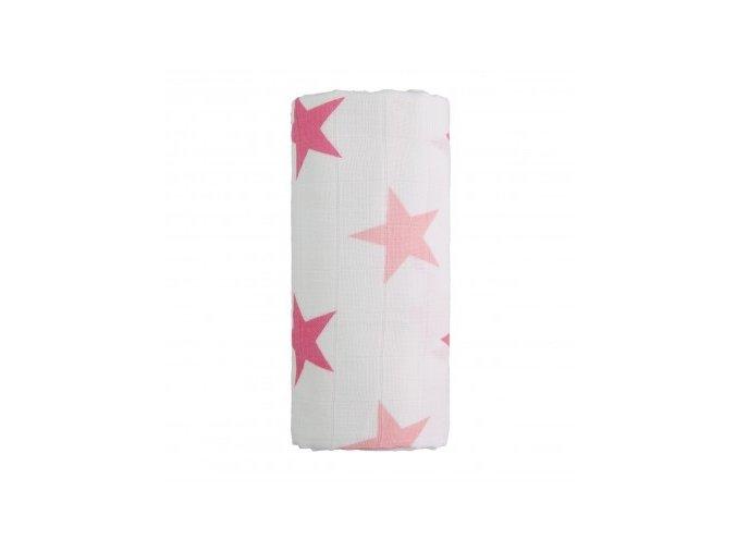 Velká bavlněná TETRA osuška - Růžové hvězdičky, T-tomi