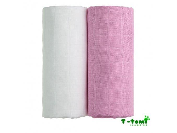 TETRA osušky EXCLUSIVE COLLECTION, bílá + růžová, T-tomi