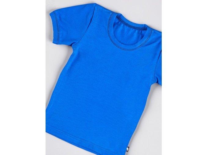 Triko krátký rukáv - královská modrá, Duomamas