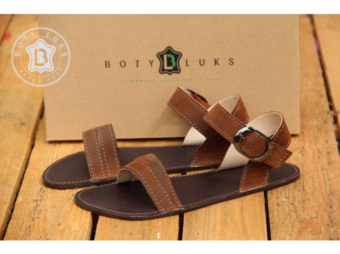 Barefoot sandály - hnědé, BotyLuks