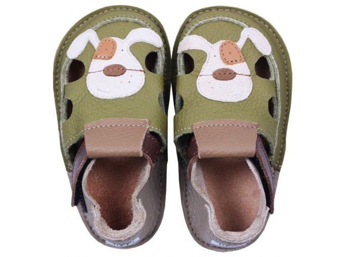 Sandálky Smiley puppy - podrážka 2 mm, Tikki shoes