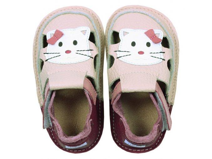 "Sandálky ""Meow"" kitty - podrážka 2 mm, Tikki shoes"
