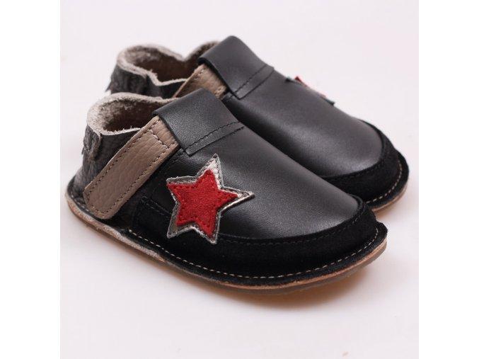 Kožené barefoot boty Rock Star - podrážka 3 mm, Tikki shoes