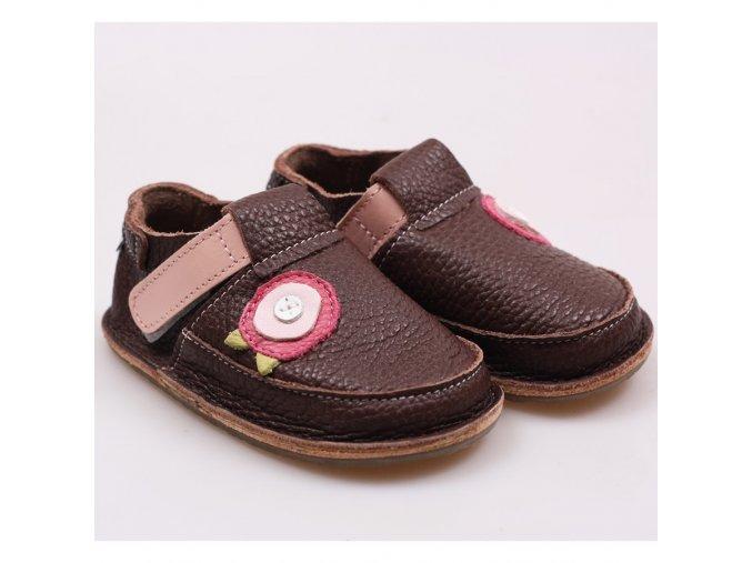 Kožené barefoot boty Flower Bouquet - podrážka 3 mm, Tikki shoes