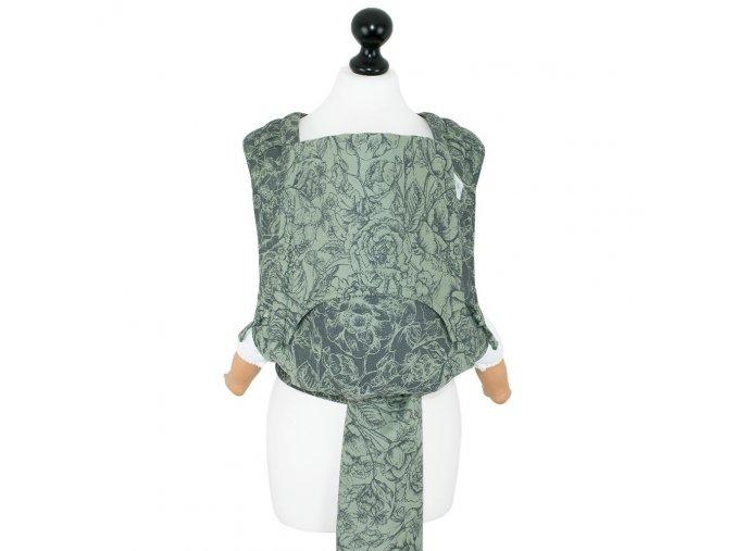 New Size: Fidella Fly Tai - Mei Tai - Wild Rose -mossy green-