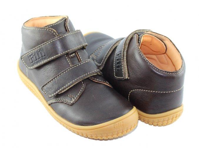 SOFT TOE Klett - Schoko M, Filii barefoot