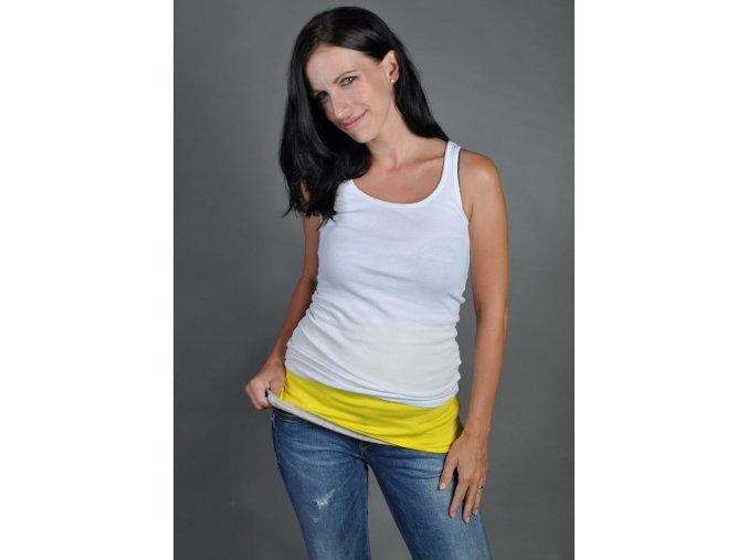 Bederní pás pro ženy - žluto-šedý, Nice Belly