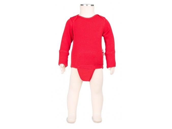 Body / tričko merino 16 Poppy Red, Manymonths