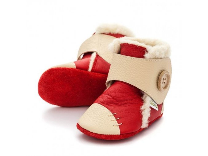 Zimní botičky Liliputi - Snowflake red, Liliputi®