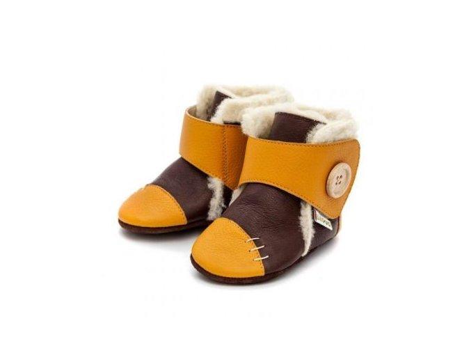 Zimní botičky Liliputi - Snowflake mustard, Liliputi®
