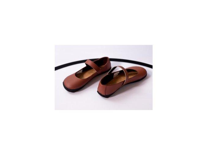 Balerínka (hnědá se semišem), Ahinsa shoes