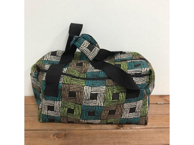 Taška na pleny - čtverce s boční kapsou na zip (nový střih), Breberky
