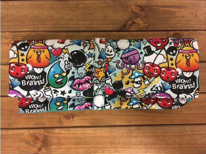 Přebalovací podložka - Graffiti s petrolejovou, KatyvBaby