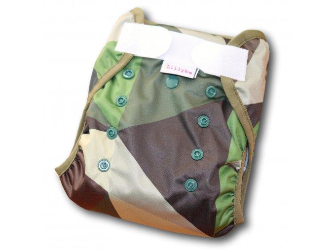 Svrchní kalhotky jednovelikostní SZ - geo maskáč zelená, LILLYBE