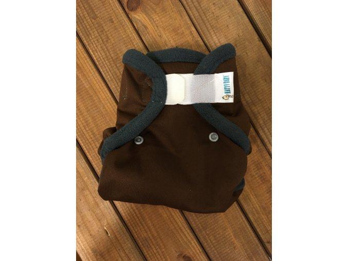 Novorozenecké svrchní kalhotky - Hnědé se šedou / lemované flísem, KatyvBaby