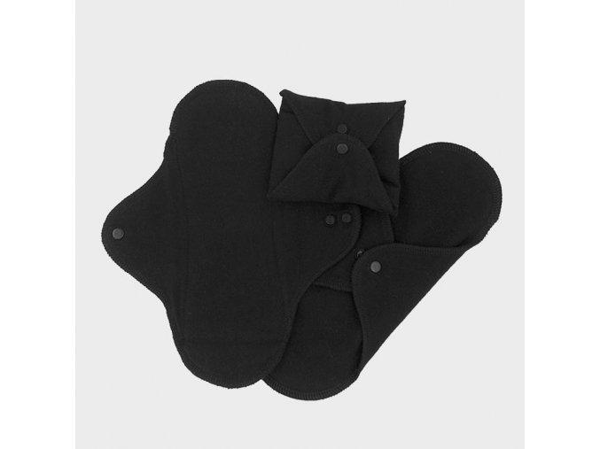 Hygienické vložky denní - černá (sada 3 ks), Imse Vimse