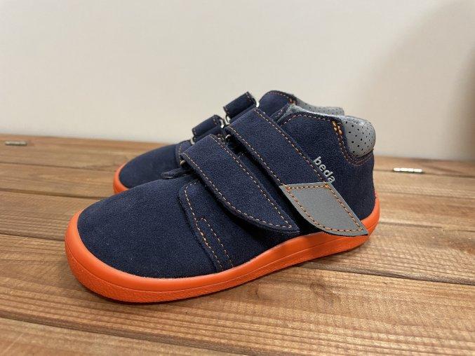 Celoroční boty s membránou - Blue mandarine (semiš), Boty Beda