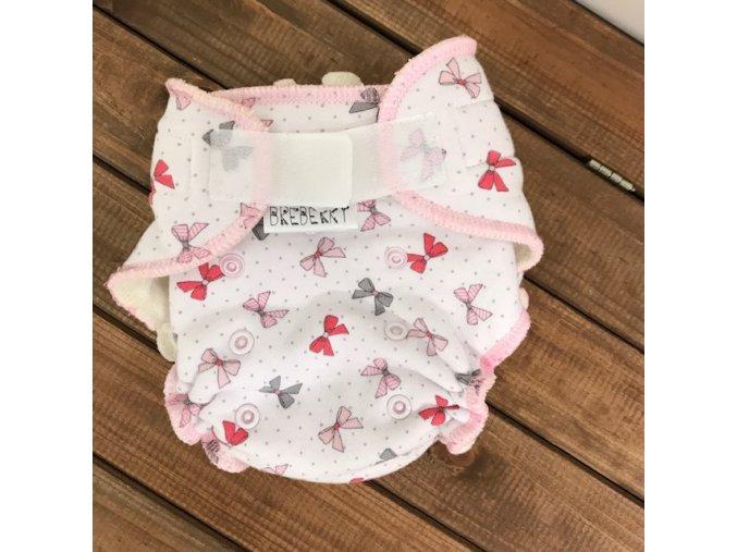 Kalhotková plenka M - Mašličky růžové SZ (jednovelikostní), Breberky