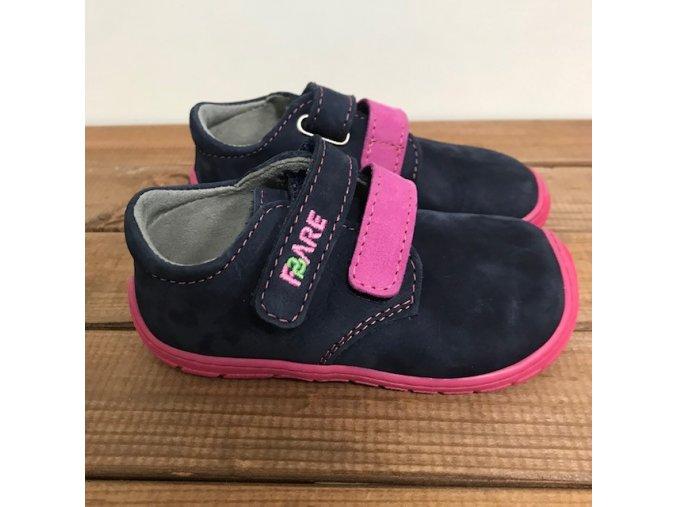 Celoroční boty - modrá s růžovou podrážkou, Fare bare