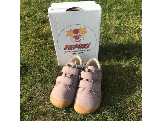 Nízké kožené barefoot boty Tony viola M, Ricosta Pepino