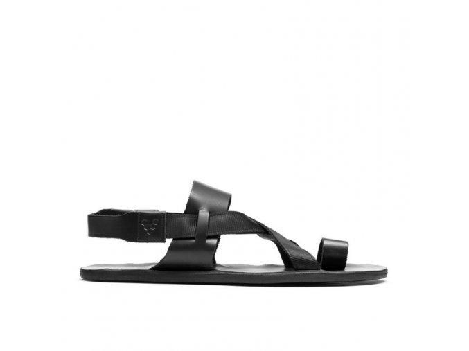 kuru sandal w obsidian black vivobarefoot