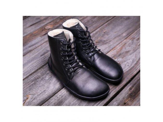 barefoot kotnikove boty be lenka winter black be lenka 5