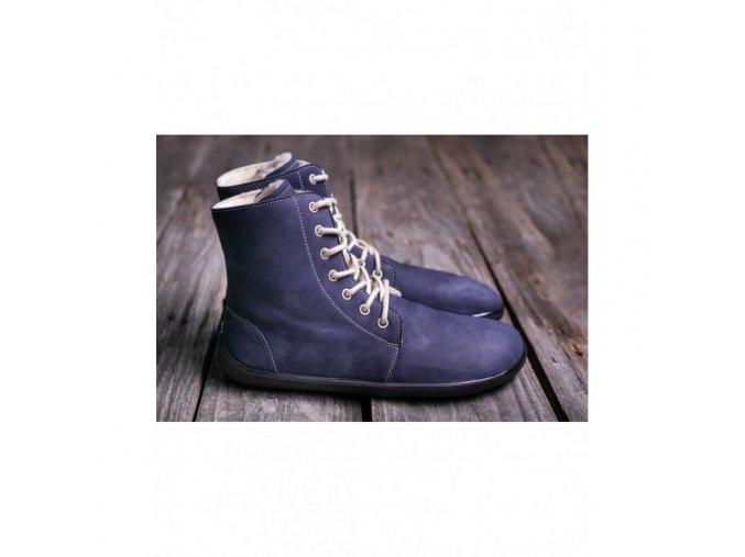 barefoot kotnikove boty be lenka winter marine be lenka 4