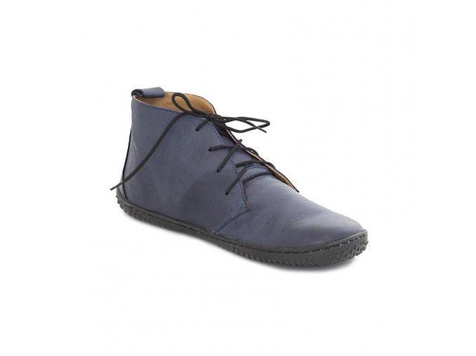 kotnickove barefoot boty ellis blue ok barefoot