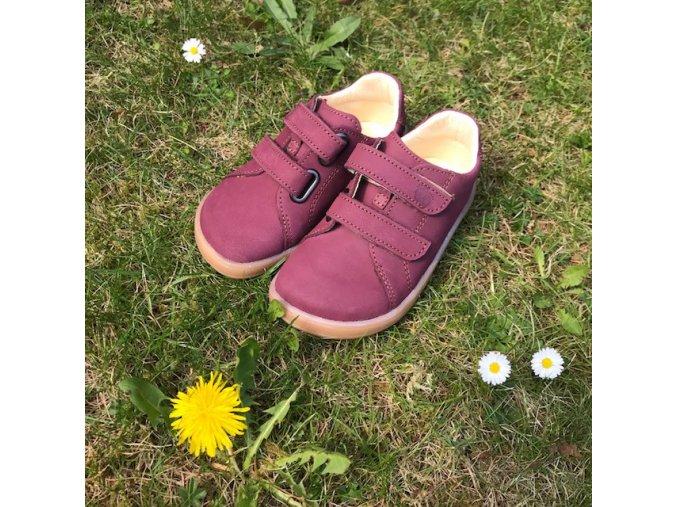 Baby Bare Shoes Febo Spring Wine Nubuk