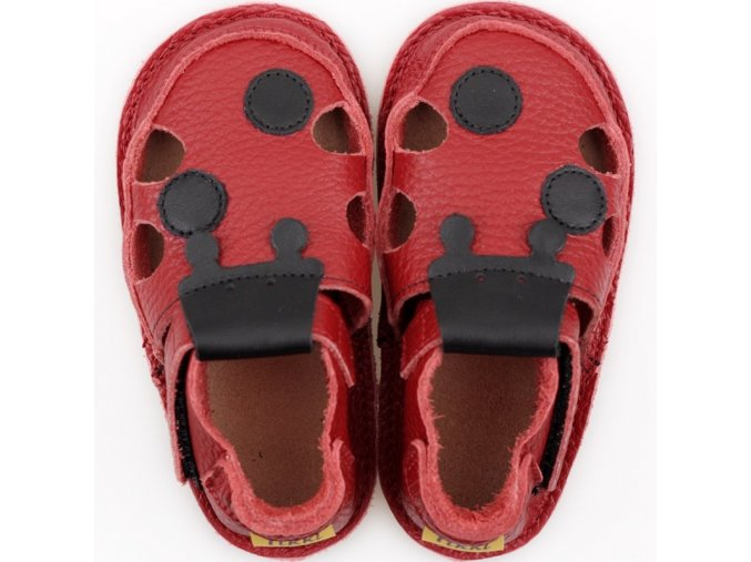 sandalky red ladybug v2 podrazka 2 mm tikki shoes
