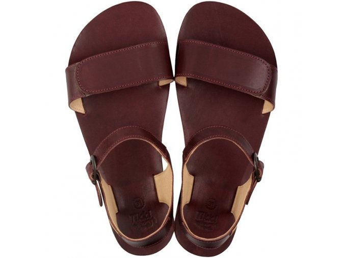 damske kozene sandale vibe burgundy vegtan tikki 2