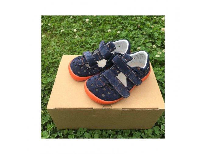 barefoot sandaly blue mandarine beda barefoot
