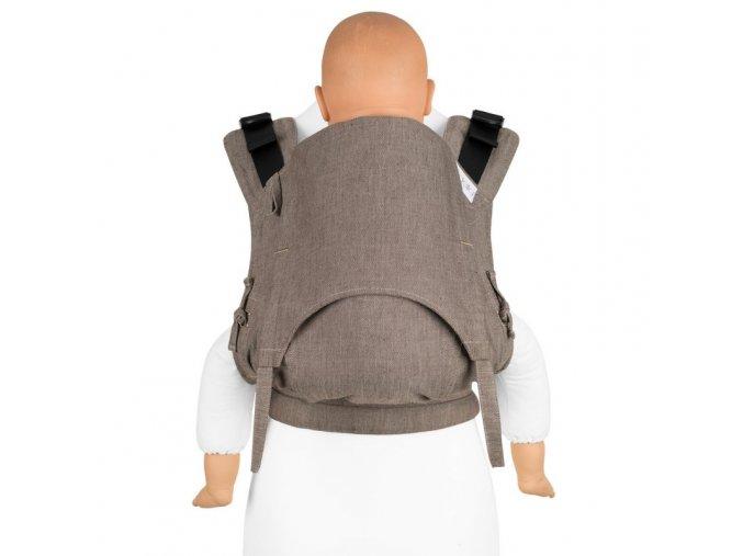 fidella fusion 20 toddler ergonomicke nositko s prezkami chevron walnussbraun toddler