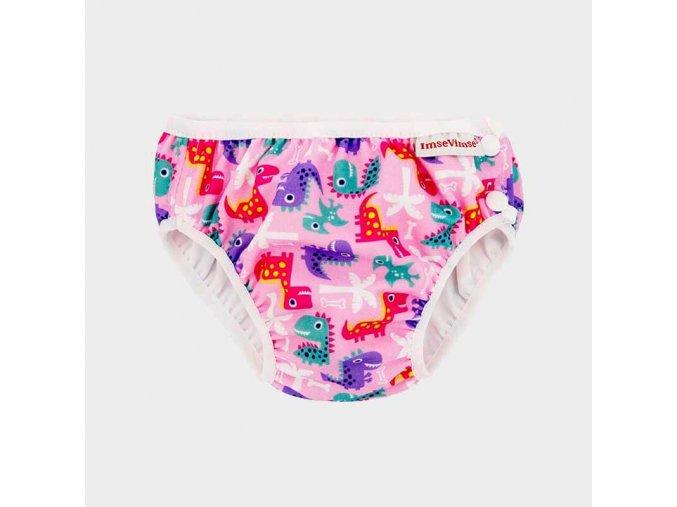 swim diaper pink dino