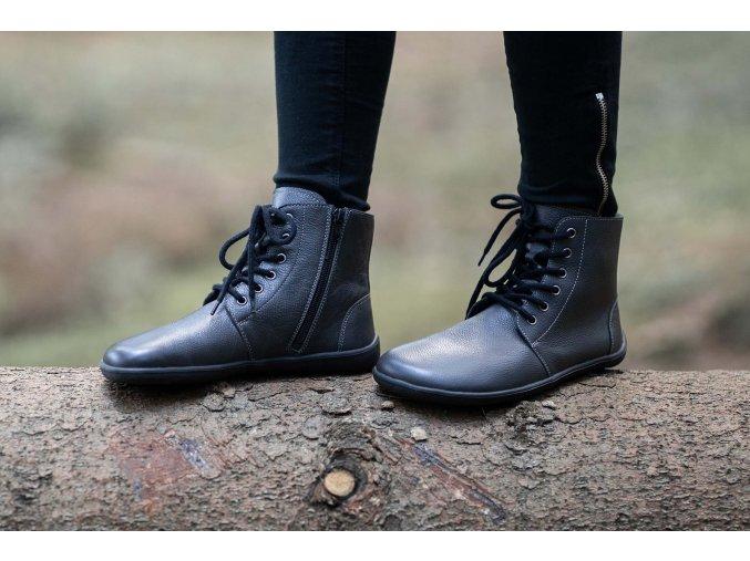 Barefoot kotníkové boty Be Lenka Nord – Charcoal, Be Lenka