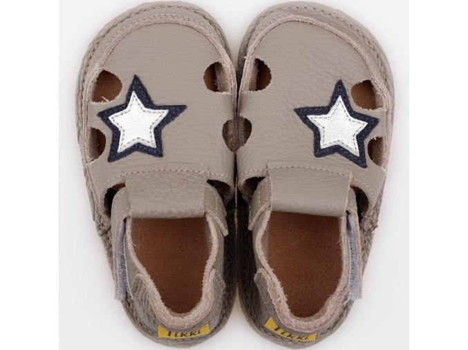 Sandálky Grey star - podrážka 2 mm, Tikki shoes