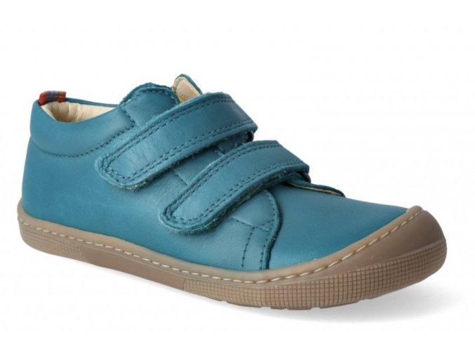 Barefoot tenisky - Bernardinho nappa turquoise, KOEL4kids