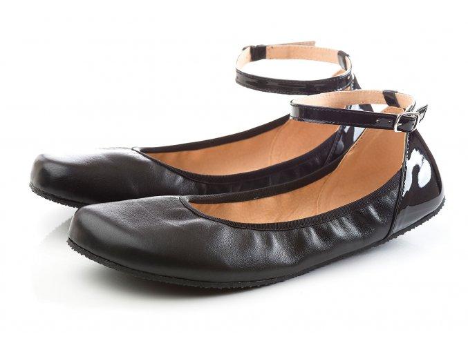 shapen barefoot damske balerinky tulipII black (1)