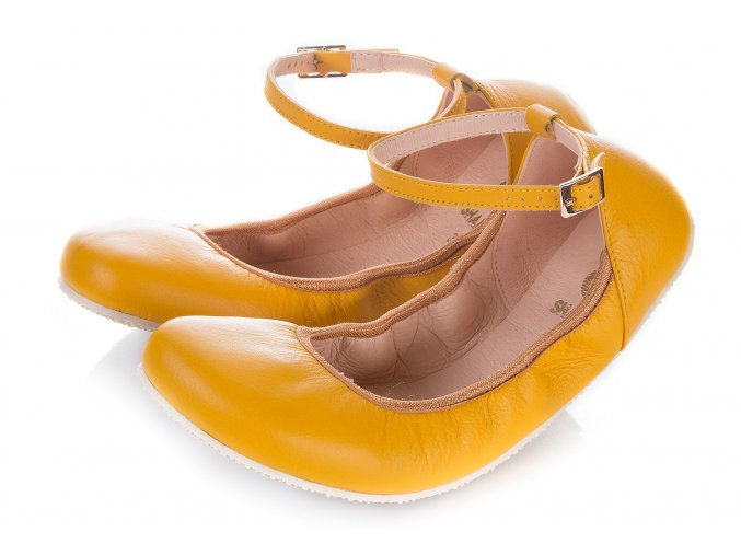 shapen barefoot damske balerinky tulipII yellow (1)