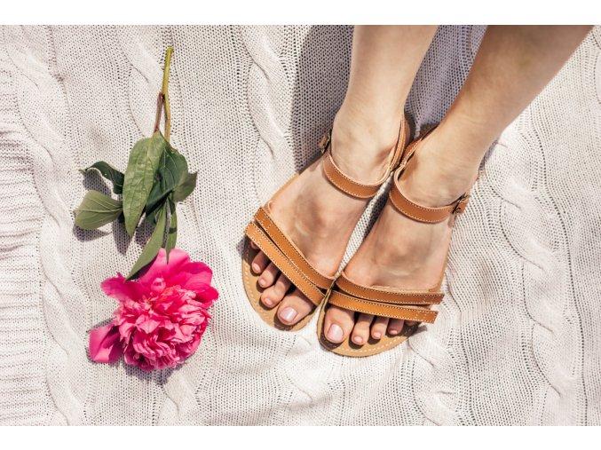 barefoot sandale lenka summer brown 1908 size large v 1