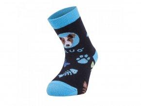 Bambusové ponožky - pes tyrkysové, Unuo