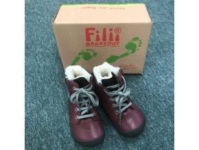 EVEREST nappa tex berry laces M, Filii barefoot