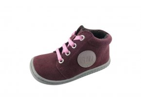 GECKO velours berry laces M (fleece), Filii barefoot