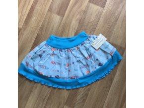 Dětská sukně 2-4 roky - modrá s lodičkou, Petra Kalistia Lammas
